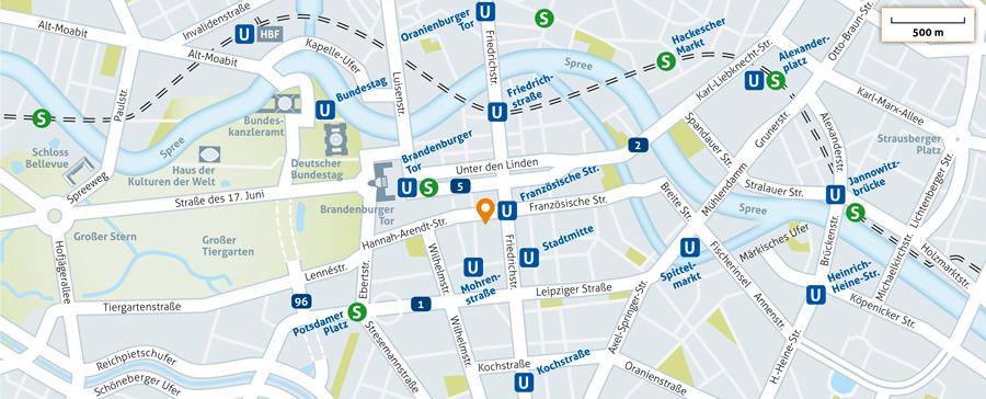 VID Anfahrtskarte Berlin